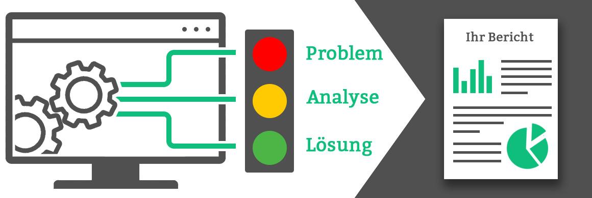 Testergebnisse über Problemlösung